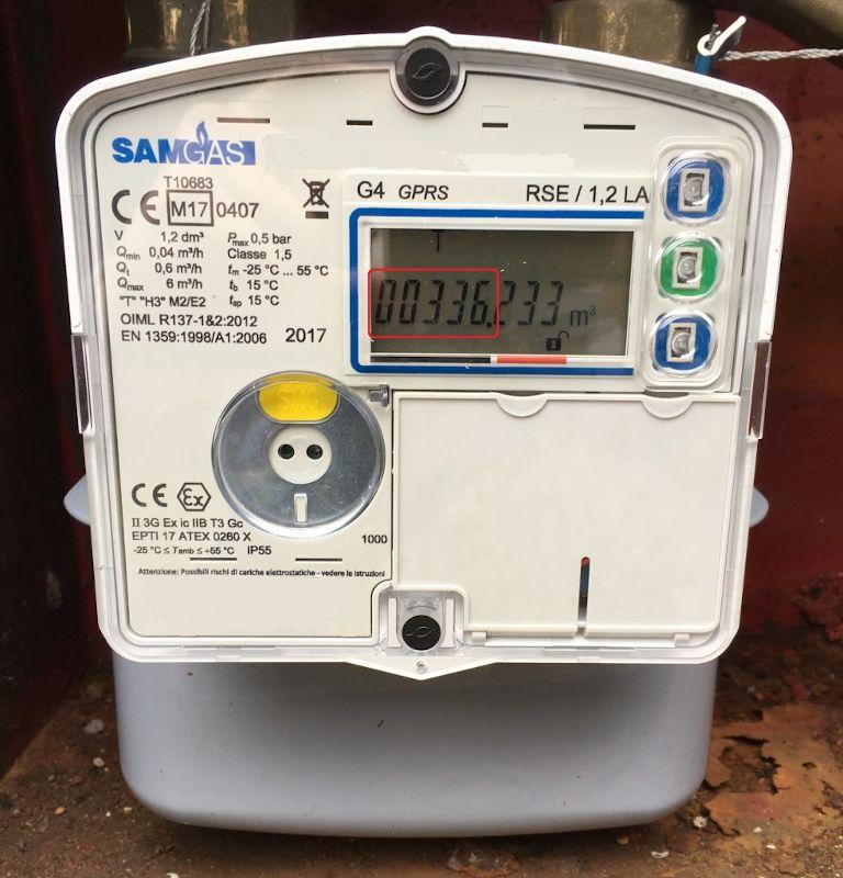 Lettura del contatore gas elettronico