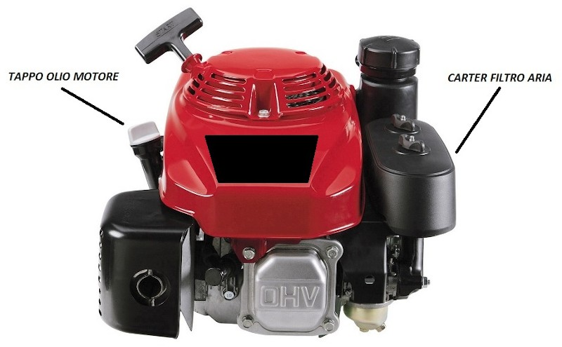 Componenti motore a scoppio tagliaerba